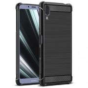 IMAK Vega Series Θήκη Σιλικόνης TPU Carbon Fiber Brushed για Sony Xperia L3 - Μαύρο