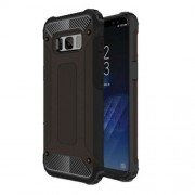 Armor Guard Plastic + TPU Hybrid Case for Samsung Galaxy S8 - Black