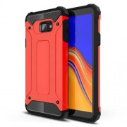Armor Guard Plastic + TPU Hybrid Phone Casing for Samsung Galaxy J4 Core - Red