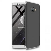 GKK 360 μοιρών Σκληρή Θήκη Ματ με Βελούδινη Υφή Πρόσοψης και Πλάτης για Samsung Galaxy J4 Plus / J4 Prime - Μαύρο/Ασημί