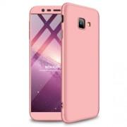 GKK 360 μοιρών Σκληρή Θήκη Ματ με Βελούδινη Υφή Πρόσοψης και Πλάτης για Samsung Galaxy J4 Plus / J4 Prime - Ροζέ Χρυσαφί