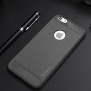 IPAKY Θήκη Σιλικόνης TPU Carbon Fiber Brushed για iPhone 6s 6 - Γκρι