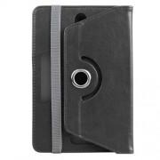 ENKAY Universal Crazy Horse Leather Case for Samsung Tab 4 7.0/Tab 3 7.0 Etc - Black