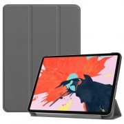 Tri-fold Stand Smart PU Leather Protection Cover for iPad Pro 12.9-inch (2018) - Grey