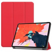 Tri-fold Stand Smart PU Leather Protection Shell for iPad Pro 12.9-inch (2018) - Red