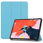 Tri-fold Stand PU Leather Smart Tablet Shell for iPad Pro 12.9-inch (2018) - Baby Blue