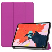 PU Leather Smart Case Shell with Tri-fold Stand for iPad Pro 12.9-inch (2018) - Purple