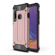 Armor Guard Plastic + TPU Hybrid Protection Case for Samsung Galaxy A9 (2018) / A9 Star Pro / A9s - Rose Gold