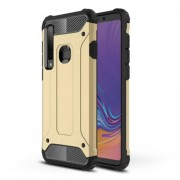 Armor Guard Plastic + TPU Hybrid Cell Phone Case for Samsung Galaxy A9 (2018) / A9 Star Pro / A9s - Gold