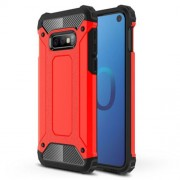 [Armor Guard] Plastic + TPU Hybrid Mobile Cover for Samsung Galaxy S10e - Red