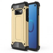 [Armor Guard] Plastic + TPU Hybrid Protective Case for Samsung Galaxy S10e - Gold