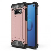 [Armor Guard] Plastic + TPU Hybrid Protective Casing for Samsung Galaxy S10e - Rose Gold