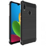IMAK Vega Θήκη Σιλικόνης TPU Carbon Fiber Brushed για Xiaomi Redmi Note 7 - Μαύρο