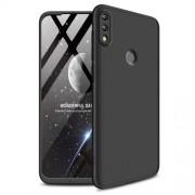 GKK 360 μοιρών Σκληρή Θήκη Ματ με Βελούδινη Υφή Πρόσοψης και Πλάτης για Huawei P Smart (2019) / Honor 10 Lite - Μαύρο