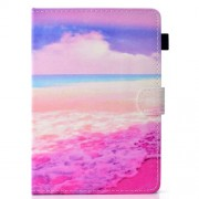 Pattern Printing Universal Leather Stand Case with Card Slots for 7-inch Tablet PC - Sea