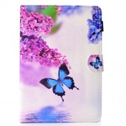 Universal Δερμάτινη Θήκη Βιβλίο για Tablets 7 ιντσών - Μπλε Πεταλούδα