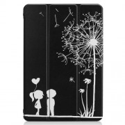 For Huawei Mediapad C5 10 / M5 Lite 10 Pattern Printing Leather Tri-fold Stand Tablet Case Cover - Dandelion