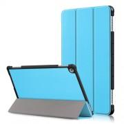 Δερμάτινη Θήκη Βιβλίο Tri-Fold με Βάση Στήριξης για Huawei Mediapad M5 Lite 10 / C5 10 - Γαλάζιο