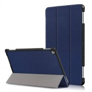 Auto-wake/sleep Smart Leather Protection Cover Shell with Tri-fold Stand for Huawei Mediapad M5 Lite 10 - Dark Blue