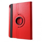 Litchi Grain Leather Case with 360 Degree Rotary Stand for iPad Pro 11-inch (2018) - Red