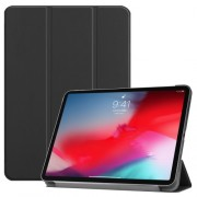 PU Leather Tri-fold Stand Smart Case for iPad Pro 11-inch (2018) - Black