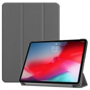 PU Leather Tri-fold Stand Smart Shell for iPad Pro 11-inch (2018) - Grey
