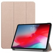 Tri-fold Stand PU Leather Smart Case for iPad Pro 11-inch (2018) - Rose Gold