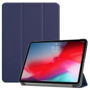 Tri-fold Stand PU Leather Smart Tablet Cover for iPad Pro 11-inch (2018) - Dark Blue
