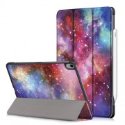 Patterned Tri-fold Stand Leather Case Tablet Shell for iPad Pro 11-inch (2018) [Auto Sleep/Wake] - Galaxy