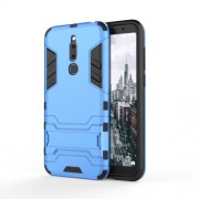 Cool Guard Kickstand PC TPU Hybrid Cell Phone Case for Meizu M6T - Baby Blue