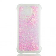Dynamic Glitter Powder Sequins TPU Shockproof Cover for Samsung Galaxy J5 Pro (2017) / J5 (2017) EU Version - Pink