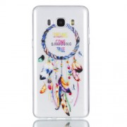 Rubberized Embossed TPU Mobile Casing for Samsung Galaxy J7 (2016) SM-J710 - Dream Catcher