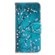Patterned PU Leather Wallet Mobile Phone Case for Samsung Galaxy A8+ (2018) - Wintersweet
