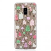 Pattern Printing IMD TPU Mobile Accessory Cover for Samsung Galaxy A8 Plus (2018) - Ice Cream