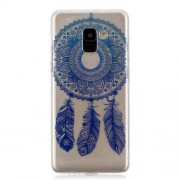 Pattern Printing IMD TPU Cellphone Shell for Samsung Galaxy A8 Plus (2018) - Dream Catcher