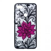 Θήκη Σιλικόνης TPU με Σκληρή Πλάτη για Xiaomi Mi 8 Lite / Mi 8 Youth (Mi 8X) - Μεγάλο Κόκκινο Λουλούδι