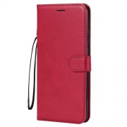 Wallet Stand PU Leather Phone Cover for Huawei Mate 20 X - Red