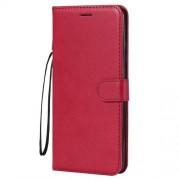Δερμάτινη Θήκη Πορτοφόλι με Βάση Στήριξης για Huawei Mate 20 X - Κόκκινο