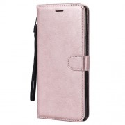 Wallet Stand PU Leather Phone Shell for Huawei Mate 20 X - Rose Gold