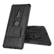 Υβριδική Θήκη Σιλικόνης TPU σε Συνδυαμό με Πλαστικό (Όψη Ελαστικού) για Sony Xperia XZ3 - Μαύρο