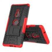 Υβριδική Θήκη Σιλικόνης TPU σε Συνδυαμό με Πλαστικό (Όψη Ελαστικού) για Sony Xperia XZ3 - Κόκκινο