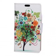 Patterned Wallet Leather Stand Phone Case for Samsung Galaxy J7 Prime 2 / J7 Prime (2018) - Colorized Tree