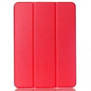Δερμάτινη Θήκη Βιβλίο Tri-fold με Βάση Στήριξης για Samsung Galaxy Tab S2 9.7 T810 T815 - Κόκκινο