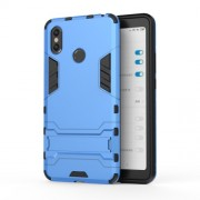 Cool Guard PC TPU Combo Mobile Phone Case with Kickstand for Xiaomi Mi Max 3 - Baby Blue