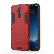 Cool Guard PC TPU Hybrid Mobile Phone Cover with Kickstand for Huawei Mate 20 Lite - Red