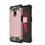 Tough Armor Υβριδική Θήκη Σιλικόνης TPU σε Συνδυαμό με Πλαστικό για OnePlus 6T - Ροζέ Χρυσαφί