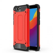 Armor Guard Plastic + TPU Hybrid Back Shell for Huawei Y6 (2018) / Honor 7A (without Fingerprint Sensor) - Red