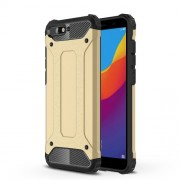 Armor Guard Plastic + TPU Hybrid Mobile Casing for Huawei Y6 (2018) / Honor 7A (without Fingerprint Sensor) - Gold