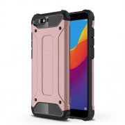 Armor Guard Plastic + TPU Hybrid Mobile Cover for Huawei Y6 (2018) / Honor 7A (without Fingerprint Sensor) - Rose Gold