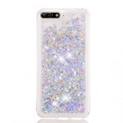 Dynamic Glitter Powder Sequins TPU Shockproof Case for Huawei Y6 (2018) / Y6 Prime (2018) / Honor 7A (without Fingerprint Sensor) - Silver